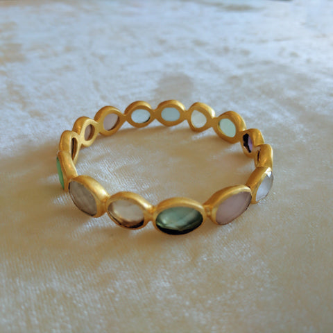multicolor precious stone handcrafted bangle