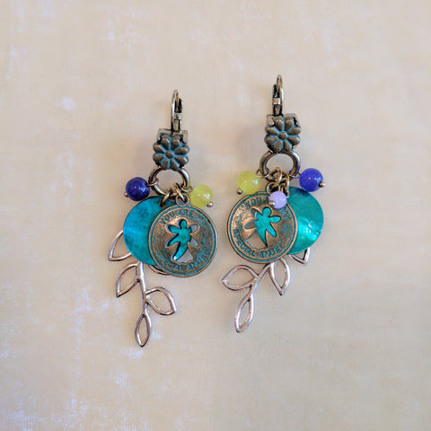 multicolor long casual earrings