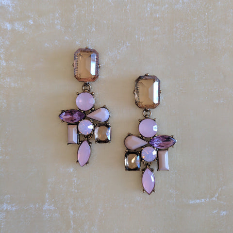 multicolor stone party earrings