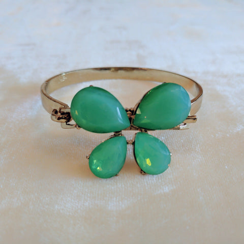 green stone cocktail bangle bracelets