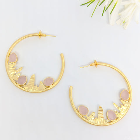 designer handcrafted hoop earrings gold