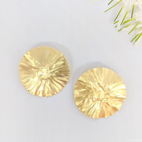 statement gold foil earrings