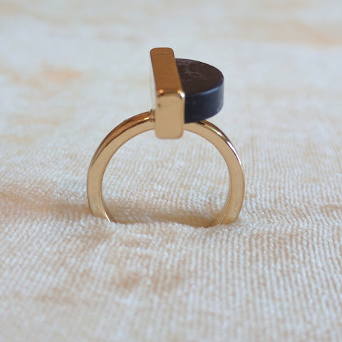 Deep blue casual Ring