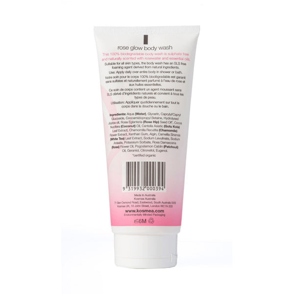 Kosmea Rose Glow Body Wash