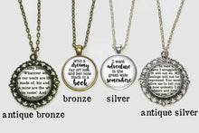 Book Spine Necklace