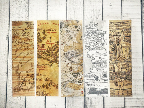 Mythical Maps Bookmark Collection