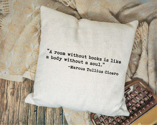 A Room Without Books Pillow