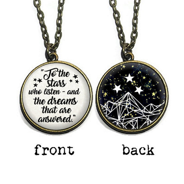 Double Sided Black Galaxy Night Court Sonnetandfable