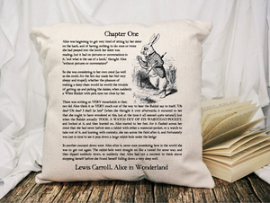 Alice in Wonderland Page Pillow
