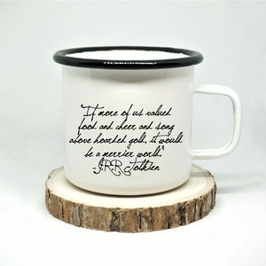 Cheer and Song Enamel Mug