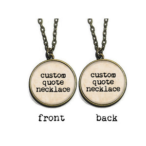 Custom Double Sided Quote Necklace