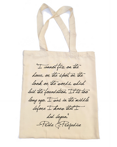 Pride and Prejudice Tote Bag - 'I cannot fix on the hour'