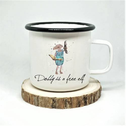 Dobby is Free Enamel Mug