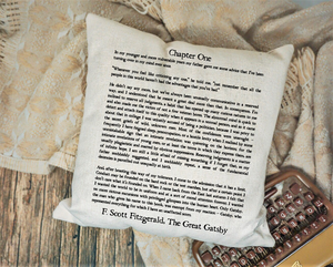 The Great Gatsby Page Pillow