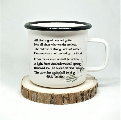 All That is Gold Enamel Mug