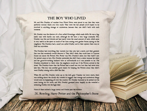 The Boy Who Lived Page Pillow