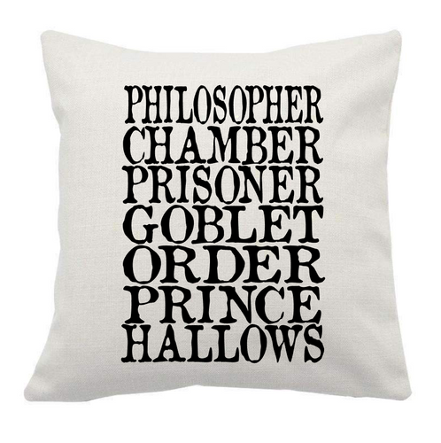 HP Titles Pillow