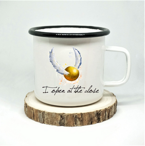 Open at the Close Enamel Mug