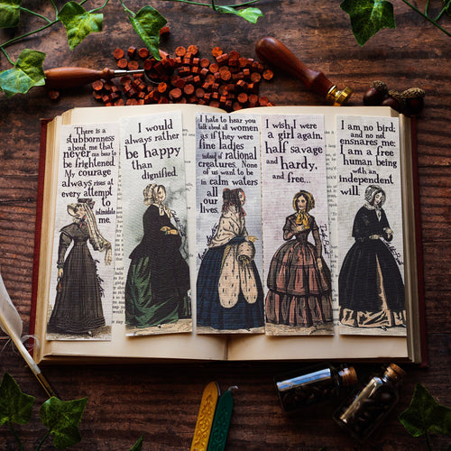 Vintage Bronte & Austen Bookmark Set