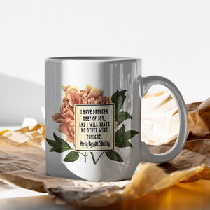 Percy Bysshe Shelley Mug, 'I have drunken deep of joy'