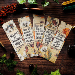 Autumn Bookmark Set