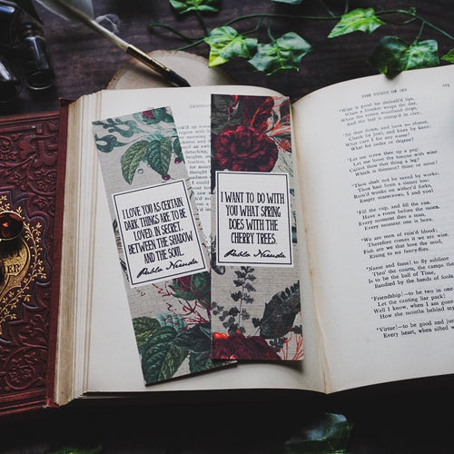Pablo Neruda Bookmark Set