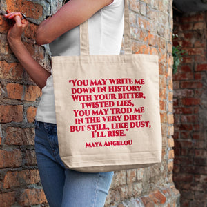 Maya Angelou 'Still I Rise' Tote Bag