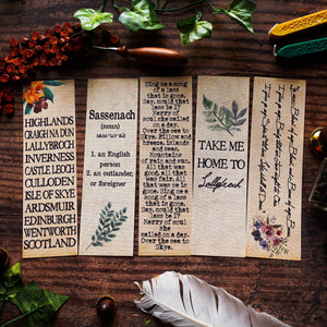 Sassenach Bookmark Set
