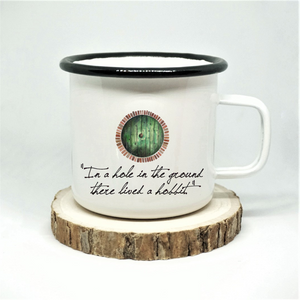 In a Hole Enamel Mug