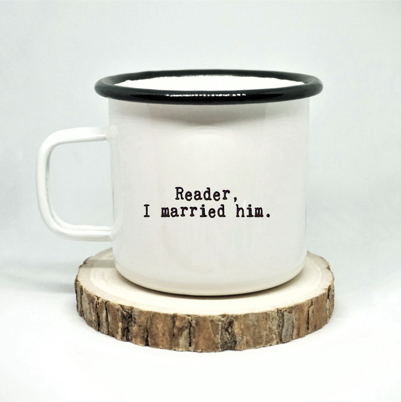 Jane Eyre 'Reader, I Married Him' Enamel Mug