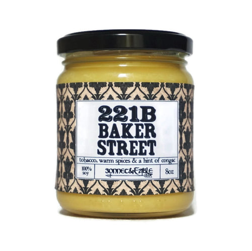 221B Baker Street Candle