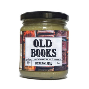 Old Books Candle