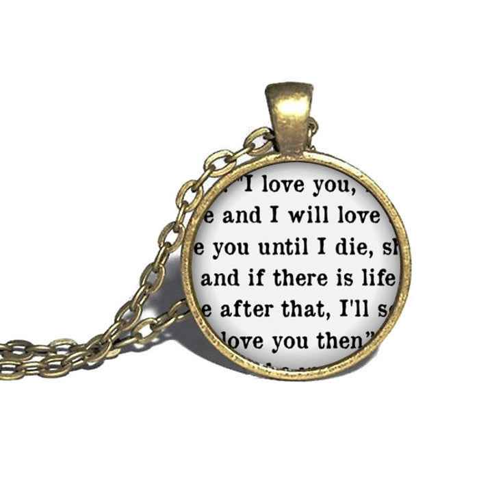 Jace Quote Necklace