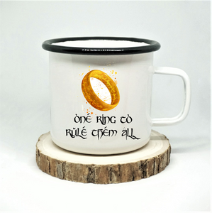 One Ring Enamel Mug