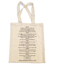 Romeo and Juliet Tote Bag - 'You kiss by the book'