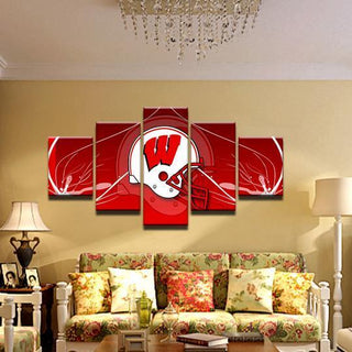 Wisconsin Badgers 2 - 5 Pieces Canvas Prints Wall Art Home Decor