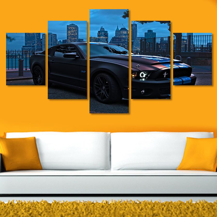 5 Pieces Ford Mustang Group Canvas Wall Art Paintings For Sale – It ...