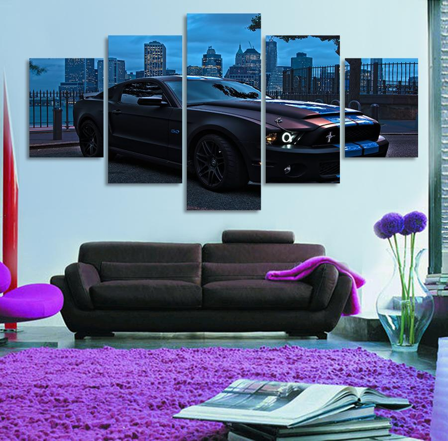 5 Pieces Ford Mustang Group Canvas Paintings - It Make Your Day