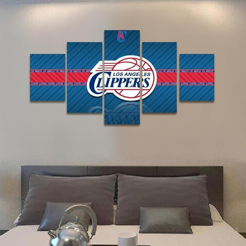 5 Piece Los Angeles Clippers Large Canvas Painting Frames - It Make Your Day
