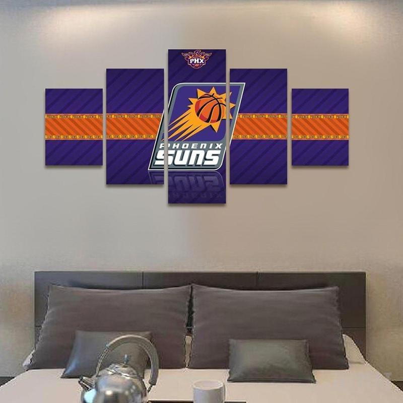 5 Piece Phoenix Suns Banner Large Canvas Painting Frames - It Make Your Day
