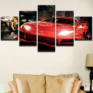 5 Pieces Lamborghini Car Canvas - It Make Your Day