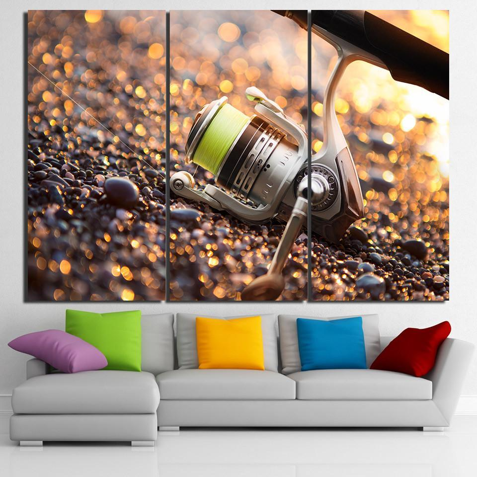 3 Piece Fishing Gear Hook Canvas Wall Art Sets - It Make Your Day