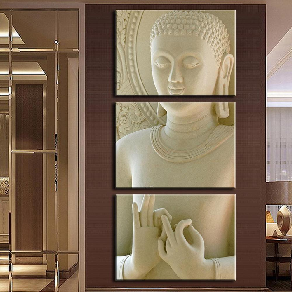 3 Piece Modern Buddha Canvas Painting Wall Art - It Make Your Day