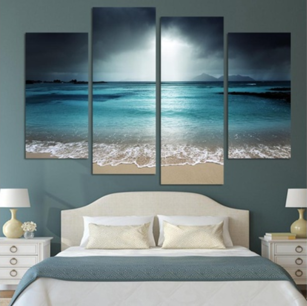 4 Piece Sea Scenery With Beach Paintings Wall Art - It Make Your Day