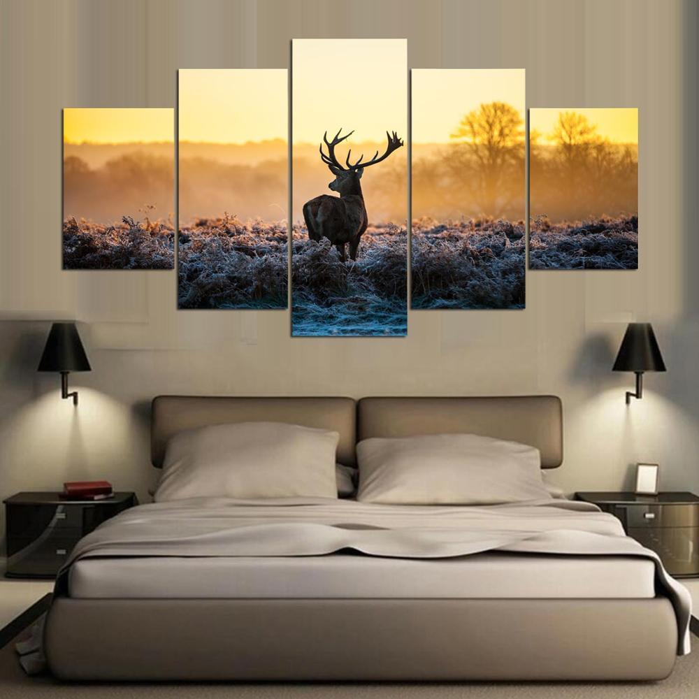 5 Pieces Deer Canvas Prints - It Make Your Day