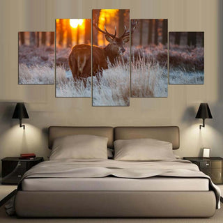 5 Pieces Deer Canvas Art Prints - It Make Your Day
