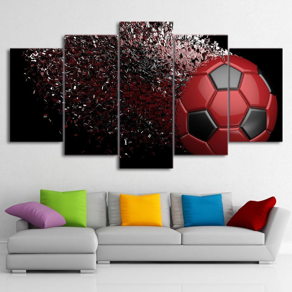 5 Piece Jaw Dropping Soccer Canvas   It Make Your Day