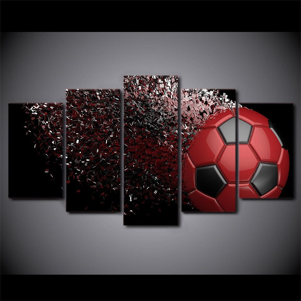 5 Piece Jaw-Dropping Soccer Canvas - It Make Your Day