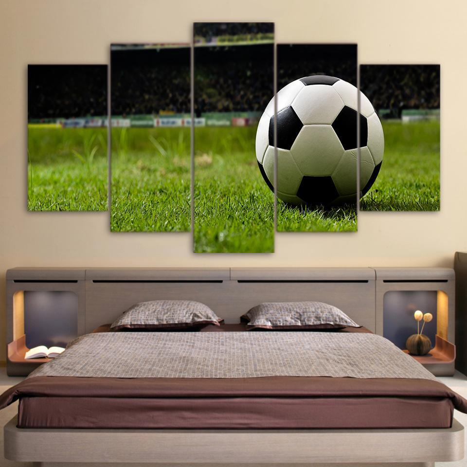 5 Piece Picturesque Soccer Canvas Paintings - It Make Your Day