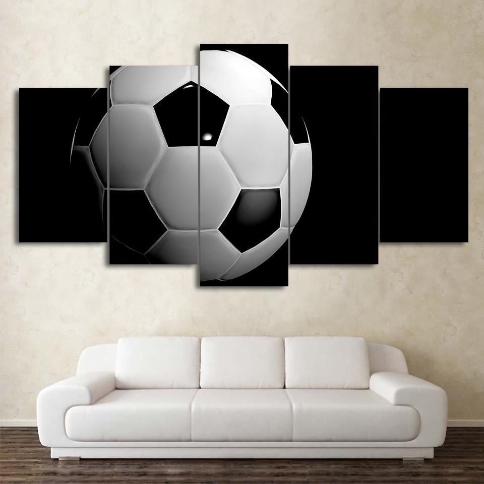 5 Piece Polished Soccer Canvas Paintings - It Make Your Day